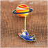 Pin Bross Enamel Planet-Astronot